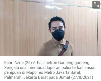 Ngaku Utusan Jokowi AH Ditetapkan Sebagai Tersangka Karena Menipu