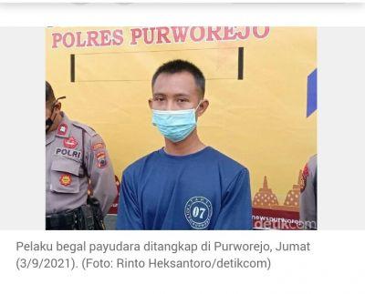 Begal Payudara Ditangkap di Purworejo