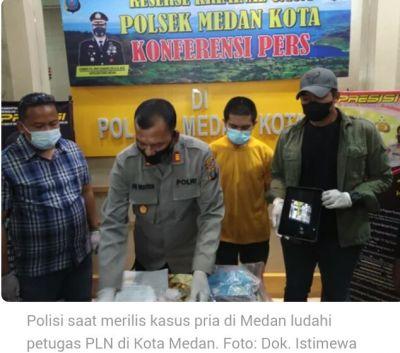 Lelaki yang Meludahi Petugas PLN Dipolisikan