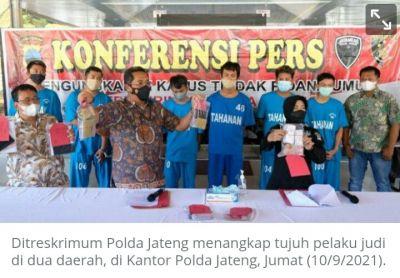 Polda Jateng Tangkap Penjudi dari Jepara dan Pati
