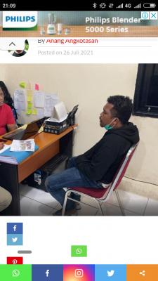 Aktivis HMI  Risman Solissa  Ditetapkan Tersangka oleh Polresta Ambon